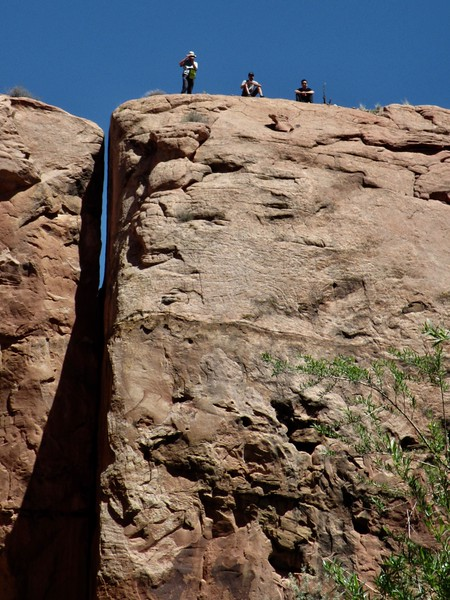 Our shot of pack rafters on their hike.  We exchanged email addresses for photo sharing.