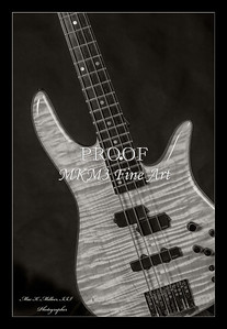 Monarch Flame Maple 4 Bass in BW