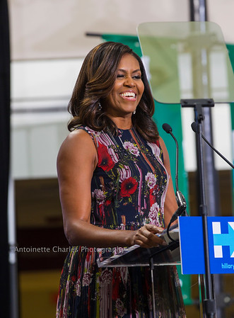 First Lady Michelle Obama  -Hillary Clinton Rally