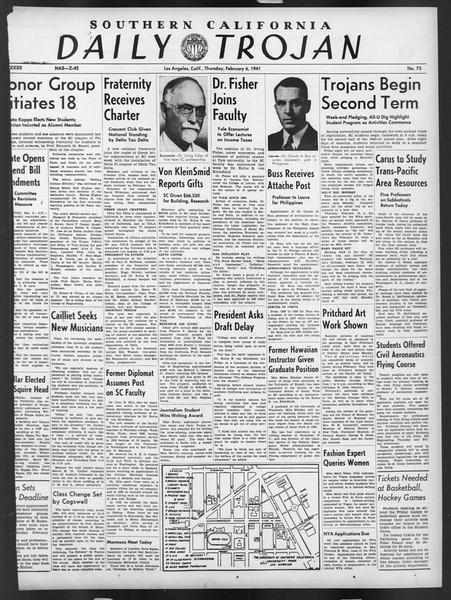 Daily Trojan, Vol. 32, No. 75, February 06, 1941