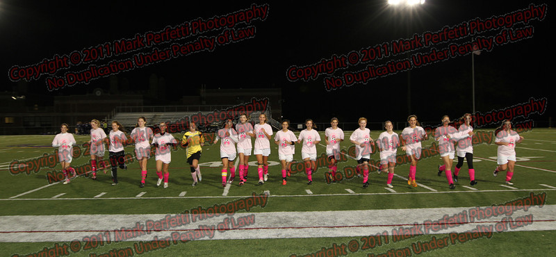AHS Girls Varsity Soccer Senior Night 10-20-2011