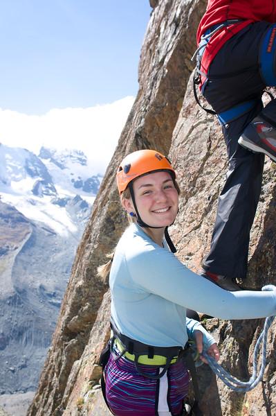 Ema enjoying her climbing experience