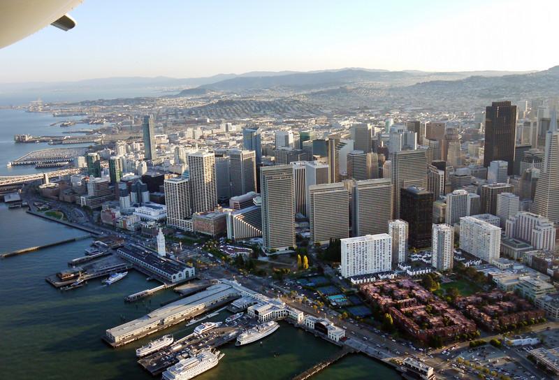 San Francisco's famous waterfront piers.