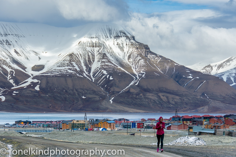 Longyearbyen, the only town in Svalbard.   Population 2,500.