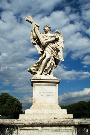 Point Sant' Angelo  Statue, Rome