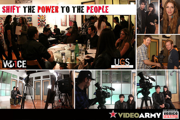 """02.18.10  """"Shift The Power To The People"""" video shoot at the Video Army Bunker in Venice, CA"""