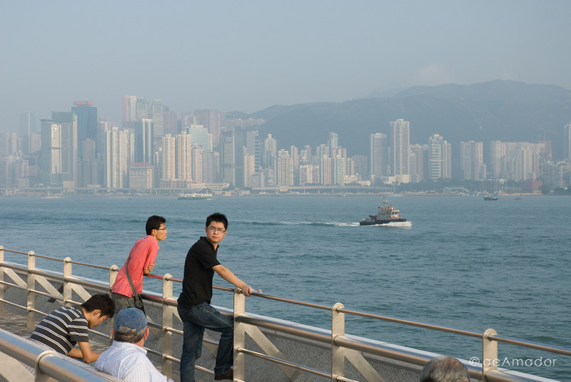 aeamador©-HK08_DSC0167. Hong Kong bay, from Tsim Sha Tsui, Kowloon.