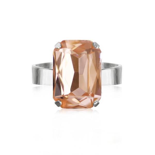 Mini Drop Ring / Light Peach Rhodium