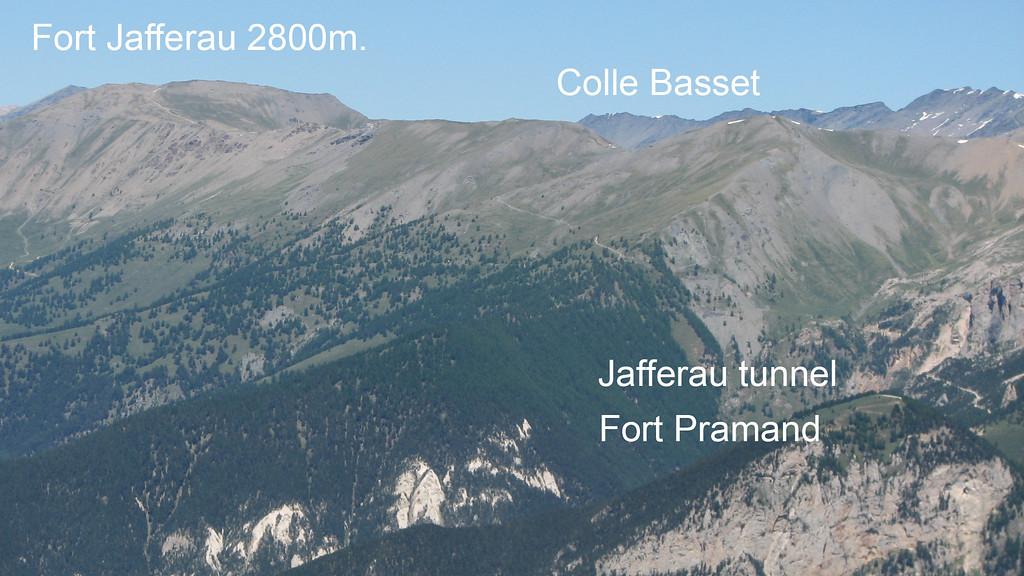 Monte Jafferau gezien van op Colle Bercia