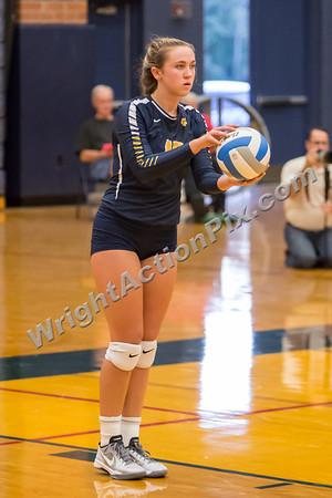 2015 09 17 Clarkston Varsity Volleyball vs Adams