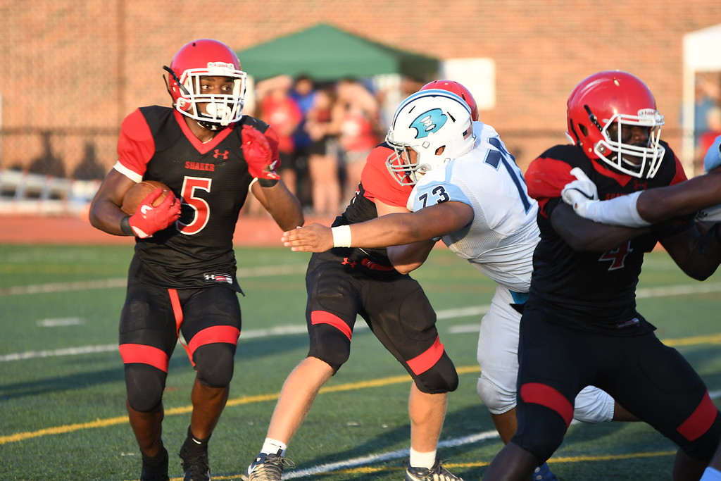 . Patrick Hopkins - The News-Herald Action from Benedictine\'s game against Shaker Heights Aug. 31. Shaker Heights won, 23-21.
