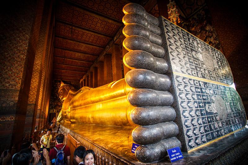 The legendary lying Buddha of Wat Pho.