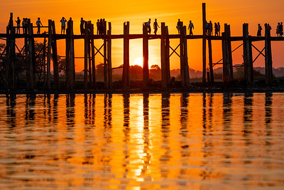 Mandalay And The U Bein Bridge