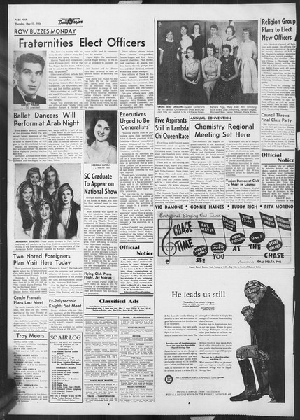 Daily Trojan, Vol. 45, No. 131, May 13, 1954