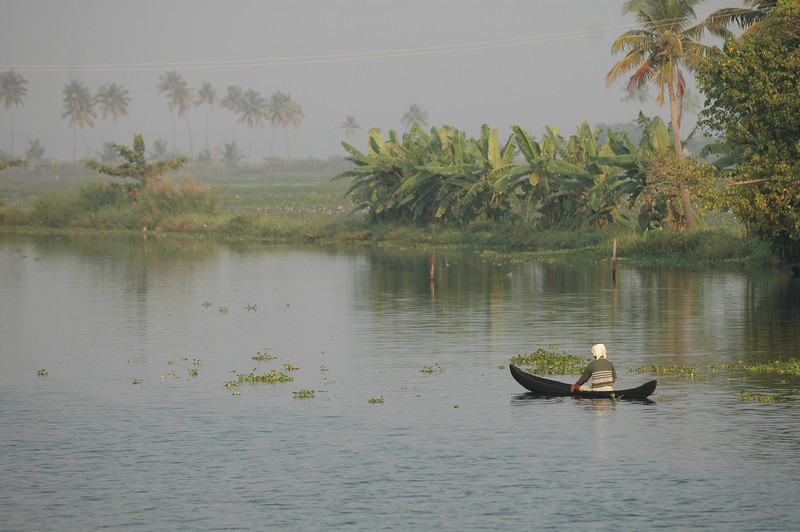 Fishing along the backwaters of Kerala