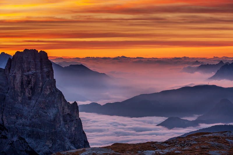 Morning at Tre Cime di Lavaredo, Dolomites