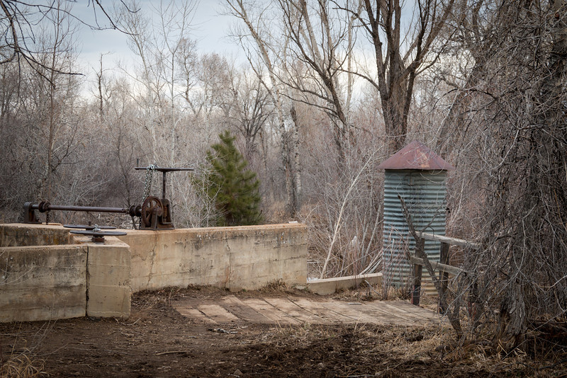 old lock on Boulder county creek