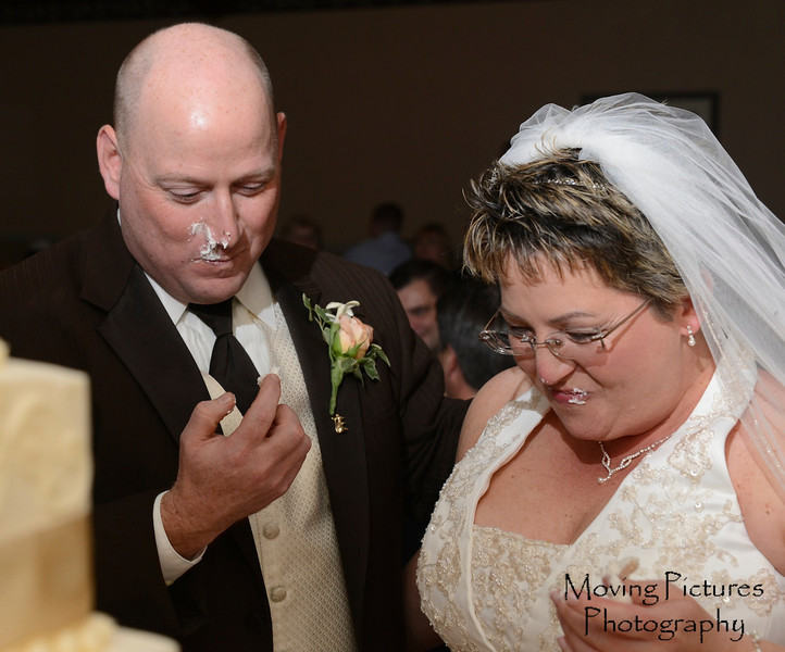 A little cake on the face