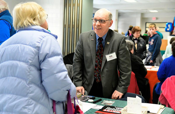 3/9/2019 Mike Orazzi | Staff Michael Ptaszynski talks about the Refuse to Be a Victim program during The Central Connecticut Chambers of Commerce's Family Health & Wellness Expo held Saturday at Bristol Eastern High School.