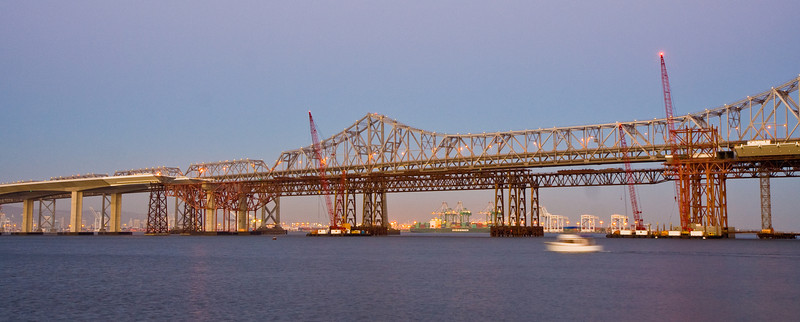New eastern span of the Bay Bridge under construction