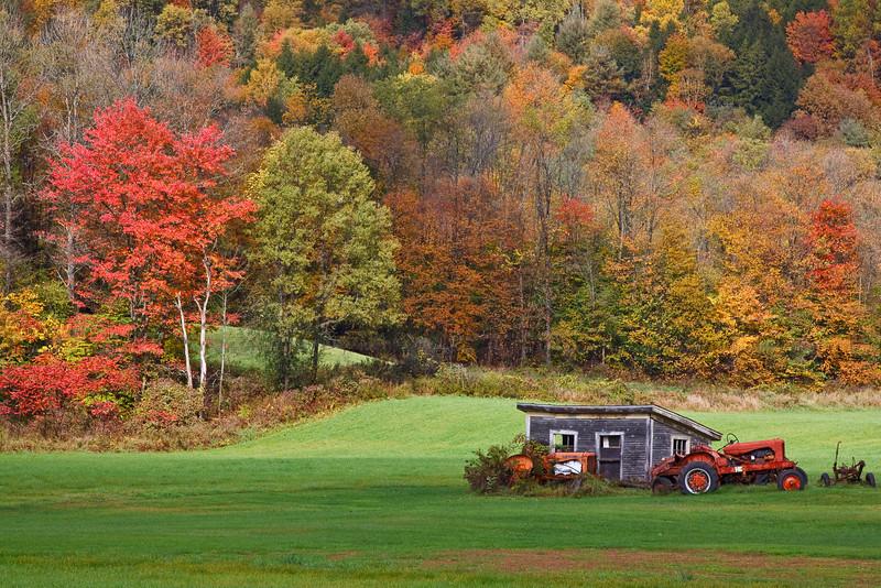 Farm equipment near Brookfield
