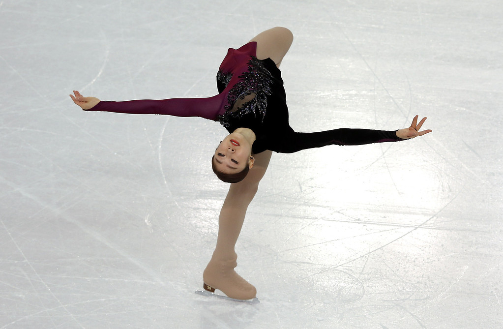 . South Korea\'s Kim Yu-Na performs in the Women\'s Figure Skating Free Program at the Iceberg Skating Palace during the Sochi Winter Olympics on February 20, 2014.  ADRIAN DENNIS/AFP/Getty Images