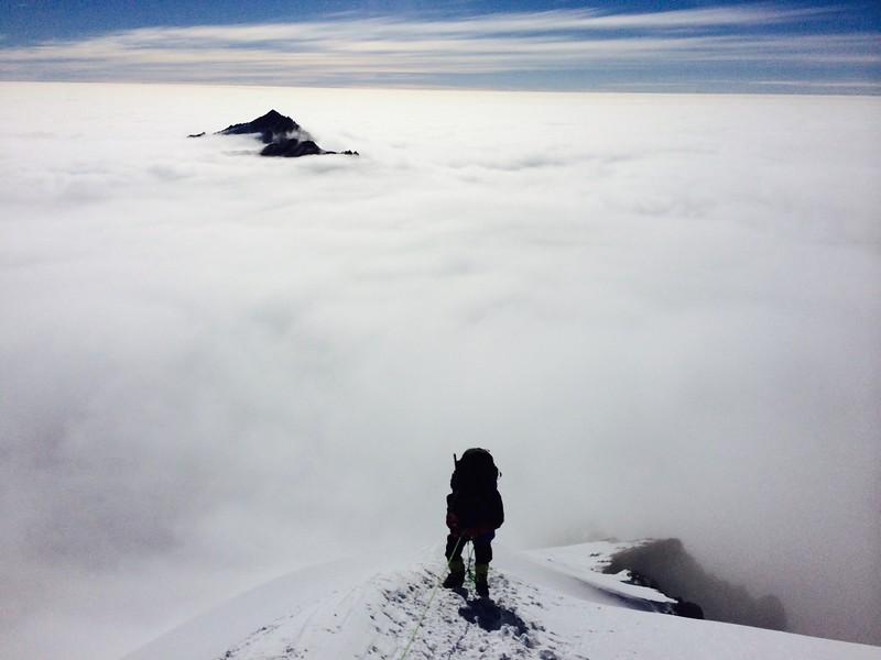 Approaching ridge