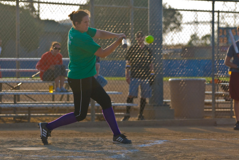 Sasha crushes a base hit -- look at that beautiful swing.