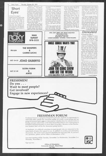 Daily Trojan, Vol. 72, No. 23, October 20, 1977