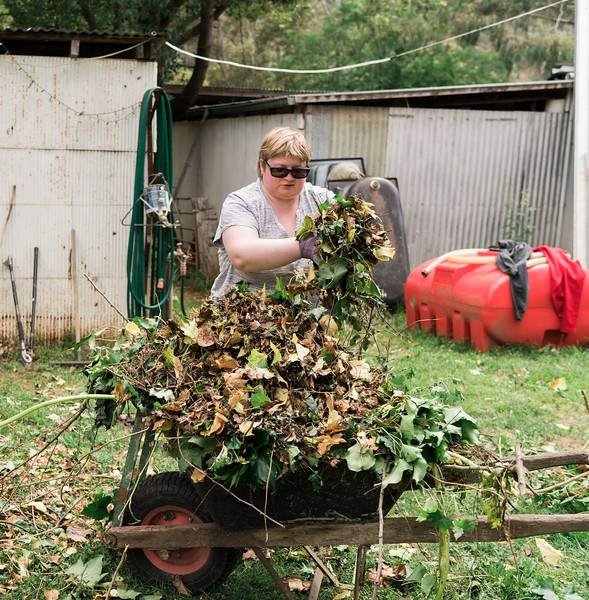 Woman doing some Gardening