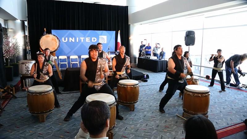 Tokyo Flight Ribbon Cutting drummers.jpg