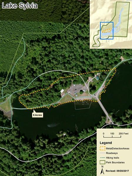Lake Sylvia State Park (Metal Detection Areas)
