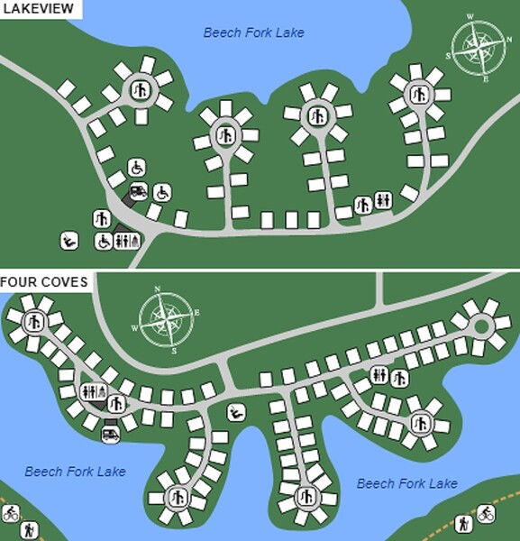 Beech Fork State Park (Lakeview & Four Coves Campgrounds)