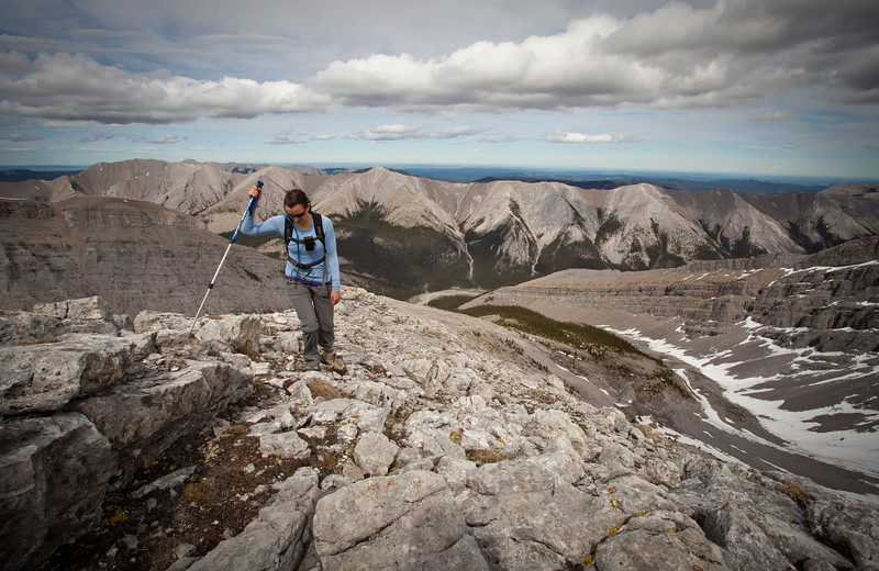 Scenes from an ascent of Mount Fulleerton, on the Albertan edge of the Canadian Rockies.