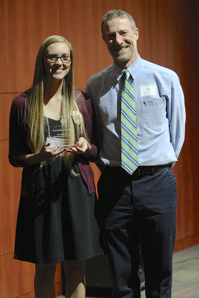 Mary Hellstrom with mentor Dr. Kent Blevins