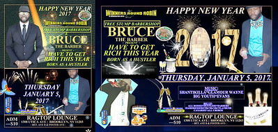 """BRUCE THE BARBER / WINNERS ROUND ROBIN present """"HAVE TO GET RICH THIS YEAR / BORN AS A HUSTLER""""(20)"""