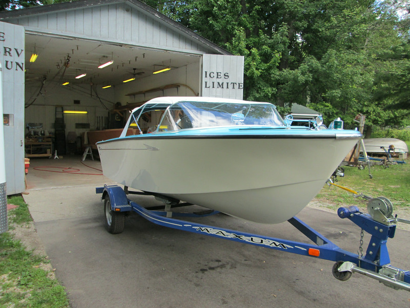 Starboard front view of new top installed.