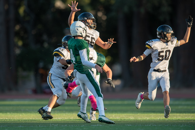 Taken during a Football game between MVHS Spartans and Palo Alto Vikings at Palo Alto High School, Palo Altos CA on 11/1/2019