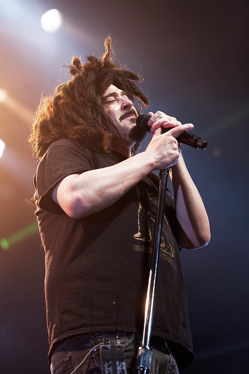 . Adam Duritz of Counting Crows sings at Sound Board in the MotorCity Casino on Friday, July 18, 2014. Photo by Ken Settle