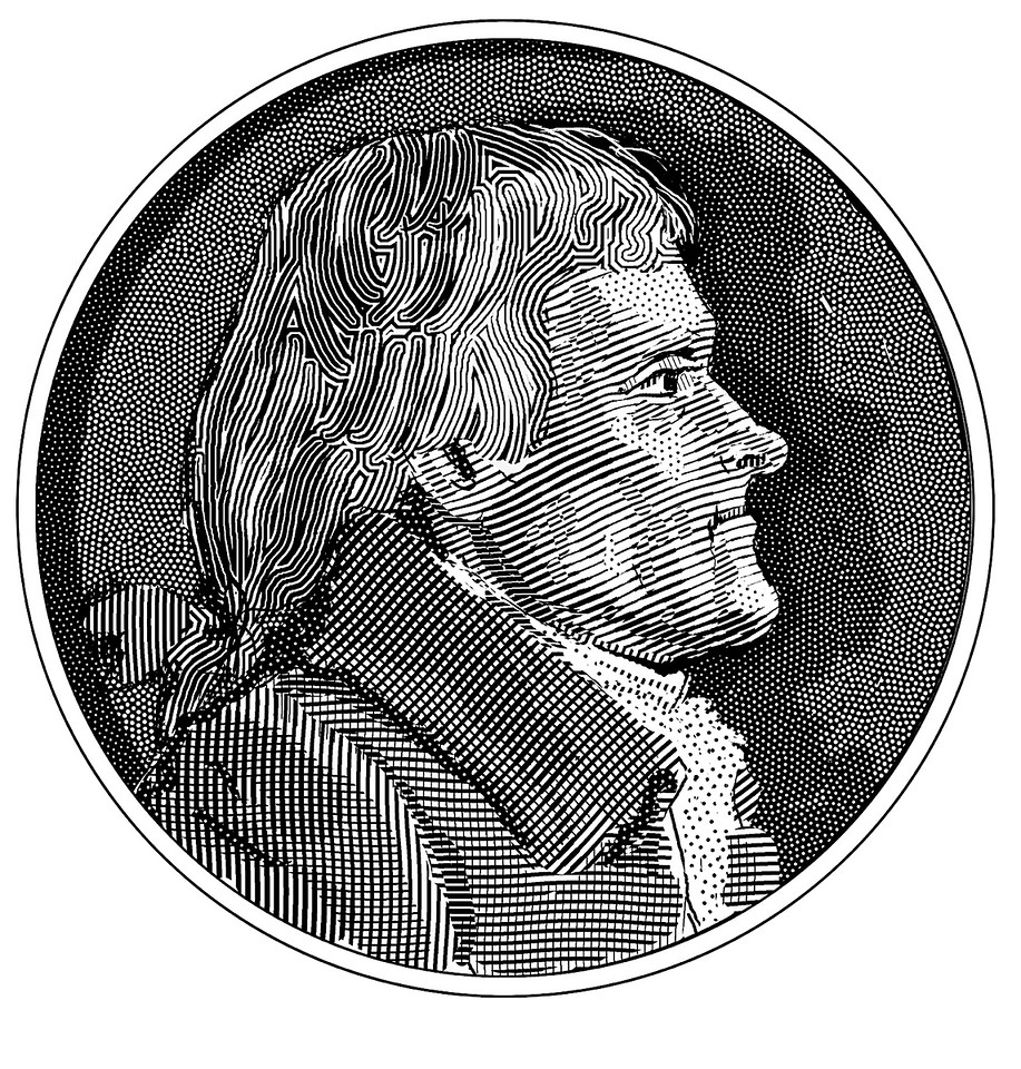 Thomas Jefferson; drawn for the Claremont Review of Books in 2009