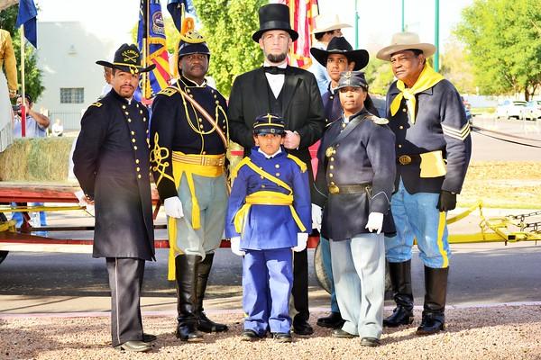 "Official Arizona Centennial Legacy ""Buffalo Soldiers of the Arizona Territory"", Headquarters Mesa, Arizona."