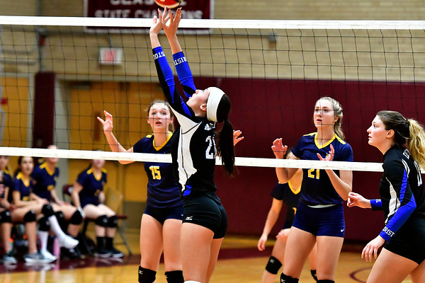 11/14/2018 Mike Orazzi   Staff Bristol Eastern's Aliana Rivoira (21) during the Class L Semifinal State Girls Volleyball Tournament held at Windsor High School Wednesday night.