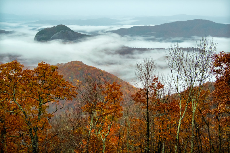 Looking Glass Rock in Autumn