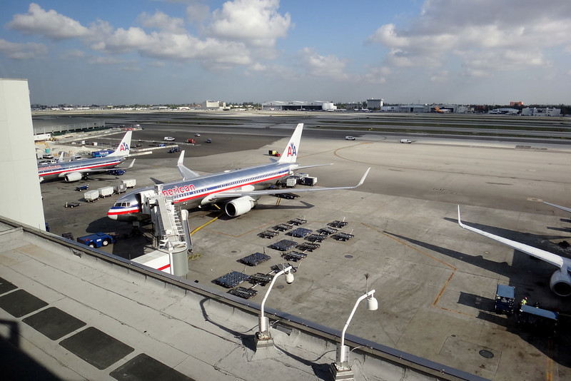 View from new Miami D Concourse Skytrain
