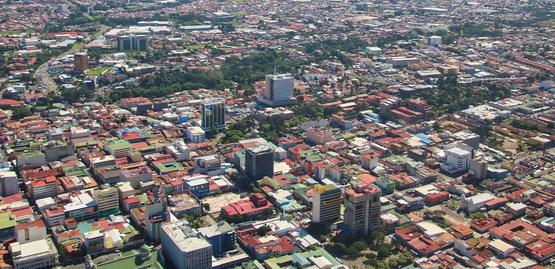 Aerial view of downtown San Jose, Costa Rica