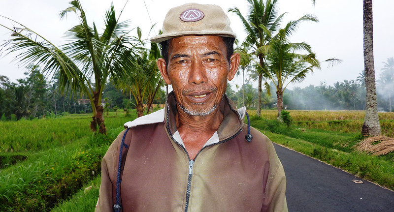 Gusti, a duck tender for the rice fields. truly a portrait of a local hard working man everybody says