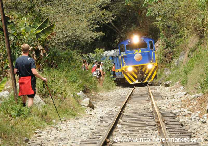 Watch Out for the Train - Day 4 of Salkantay Trek, Peru