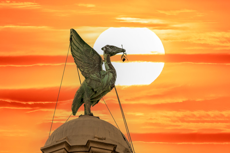 Liver Bird Liverpool Sunset