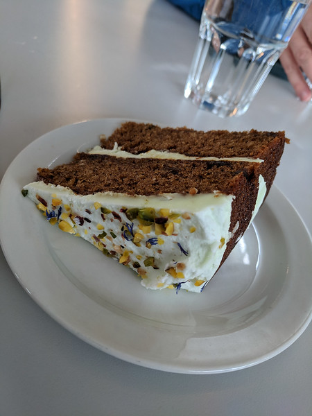 Avocado and Zucchini cake at Skaftafell Visitor Center.