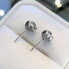 1.70ctw Old European Cut Diamond Clover Stud Earrings, GIA H-I SI 1